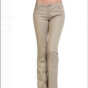 Dickies khaki size 11 slim bootleg stretch pants
